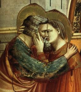 Giotto di Bondone, Incontro tra Anna e Gioacchino presso la Porta aurea (dettaglio)
