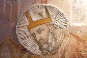 S. Massimino, scuola fabrianese - riminese del XIV secolo, Chiesa di S.Agostino, Fabriano