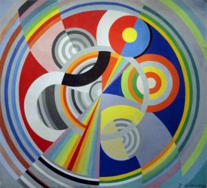 Robert Delaunay, 1938, Rhythm, oil on canvas, Musée d'Art Moderne de la Ville de Paris