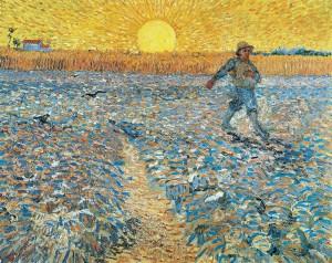 Van Gogh, Sower at Sunset, 1888, Kröller Müller Museum, Otterlo