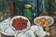 Paul Cézanne, cherries and peaches, 1883-1887, County Museum of Art, Los Angeles