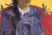 Paul Gauguin, The woman with the flower, 1891, Ny Carlsberg Glyptothek, Copenaghen