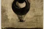 Odilon Redon, The eye like a strange balloon goes to infinity, 1882, Bibliothèque Nationale, Paris