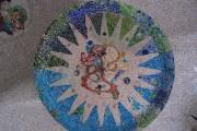 Antoni Gaudi - Parc Güell - Medaglioni a mosaico soffitto sala delle colonne