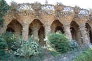 Antoni Gaudi - Parc Güell - Parte superiore della passeggiata