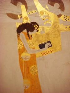 Gustav Klimt - La poesia, Fregio di Beethoven (particolare) - 1902 P.zo della Secessione - Vienna