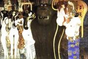 Gustav Klimt - Fregio di Beethoven - Forze ostili (dettaglio) - 1902 - Palazzo della Secessione - Vienna