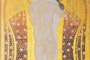 Gustav Klimt - Fregio di Beethoven - Questo bacio a tutto il mondo - 1902 - Palazzo della Secessione - Vienna