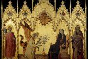 Simone Martini, Annunciazione, 1333, tempera e oro su tavola, Uffizi, Firenze