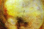 William Turner - Luce e colore (teoria di Goethe) - Il mattino dopo il diluvio - Mosè scrive il libro della Genesi - 1843 - olio su tela - Tate Gallery - Londra