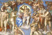 Giudizio Universale - Dettaglio di Cristo e la Vergine, San Pietro, San Bartolomeo e San Lorenzo - 1536-1541 - Affresco - Cappella Sistina in Vaticano - Roma