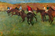 Edgard Degas, Race horses in front of the grandstand , 1866-1868, Musée d'Orsay, Paris