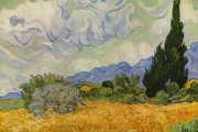 Van Gogh, Wheat field with Cypresses, 1889, National Gallery, London