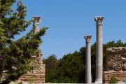 Colonne in granito dell'isola del Giglio, villa romana imperiale di Nerone, Isola di Giannutri