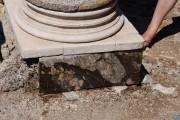 Basamento di colonna in marmi policromi, villa romana imperiale di Nerone, Isola di Giannutri