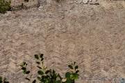 Pavimentazione ad opus spicatum, zona termale, villa romana imperiale di Nerone, Isola di Giannutri