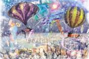 Gone with the wind, Massimo Balestrini, Mixed media su tela, 2013