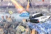 Skyway patrol, Massimo Balestrini, Mixed media su tela, 2013