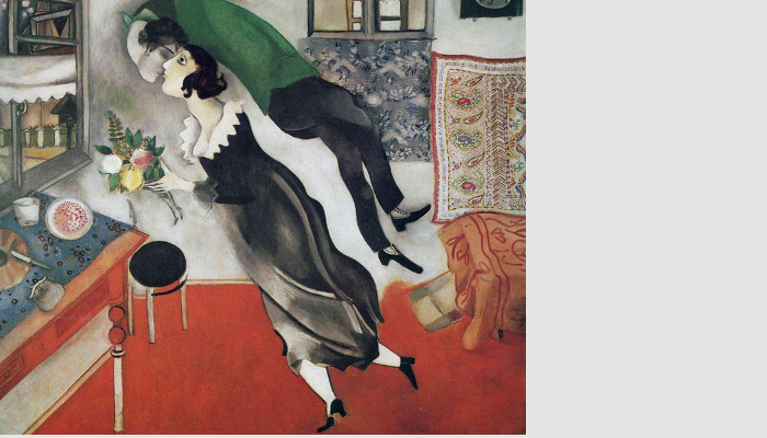 Marc Chagall, Il compleanno, 1915. New York, Museum of Modern Art