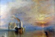 """William Turner - La nave da guerra """"Temeraire"""" viene rimorchiata al suo ultimo ancoraggio, per essere demolita - 1838 - olio su tela - Nationa Gallery - Londra"""