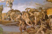 Giudizio Universale. Inferno. Caronte - 1536-1541 - Affresco - Cappella Sistina in Vaticano - Roma
